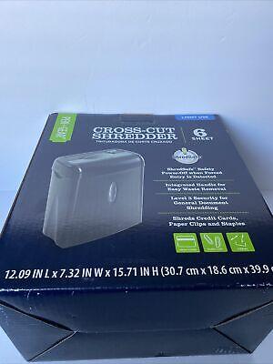 Pen Gear Cross Cut Shredder 6 Sheet Shreds Credit Cards