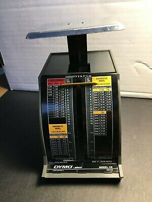 Pelouze Dymo Postal Scale Model X2 5112009 Rates 2 Pound Scale