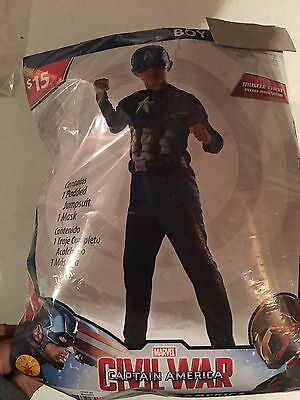 Halloween Costume Boy's Civil War  Captain America Small, Medium or Large