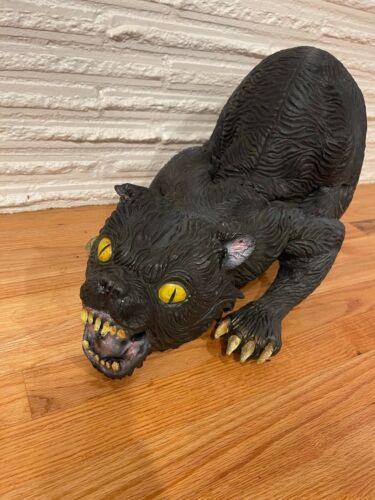 "Large Black Vampire Cat, Latex Foam Halloween Prop -Scary, Evil, Cat- 22"""