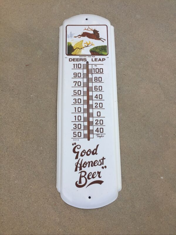 "Vintage ""Deer Leap"" ""Good Honest Beer"" Taylor Thermometer"