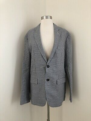 New Mens Zara Printed Blazer Jacket Sports Coat Mid Gray Size 52 US 42