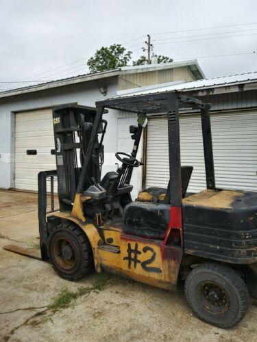 6,000lb Capacity Pneumatic Cat Diesel Forklift, Runs Great--needs Love