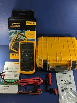 New Fluke 87v Trms Multimeter Original Box 2019 Stock Hard Case