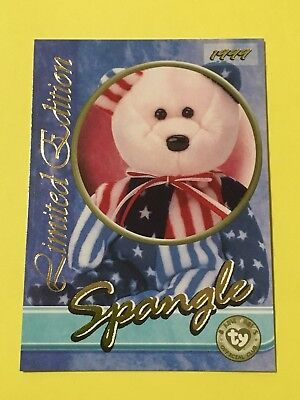 Ty Beanie Babies Trading Card Spangle, Tear A Bear, Series 3