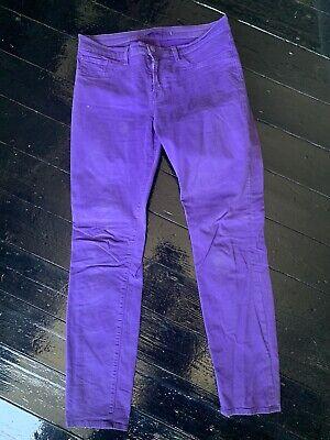 LADIES J BRAND Purple SKINNY LEG JEANS SIZE 31W / 29L