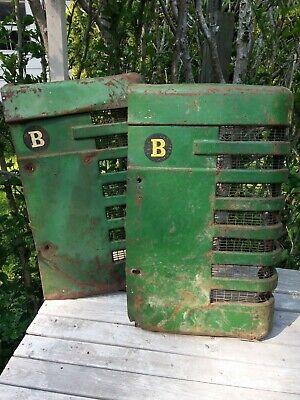 2 John Deere B Style Tractor Original Front Nose Cone Grills Parts