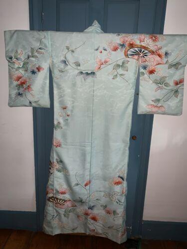 Beautiful Handsewn Japanese Kimono Gold Embroidery