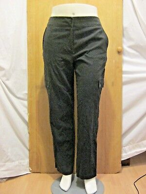 J.Jill Stretch Soft Gray Casual Cargo Pants Zipper Cuffs Womens Size 10 for sale  Round Lake