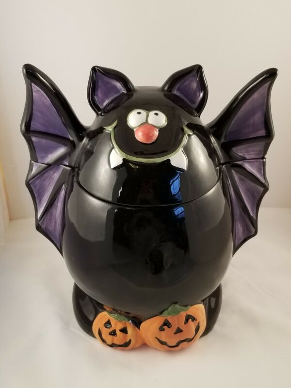 Going Bats For Halloween Cookie Jar, Ceramic By Bizzare World Inc.