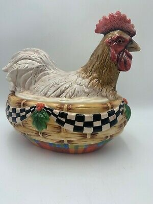 Peggy Fairfax Herrick House of Hatten Chicken HEN ON NEST Covered CASSEROLE