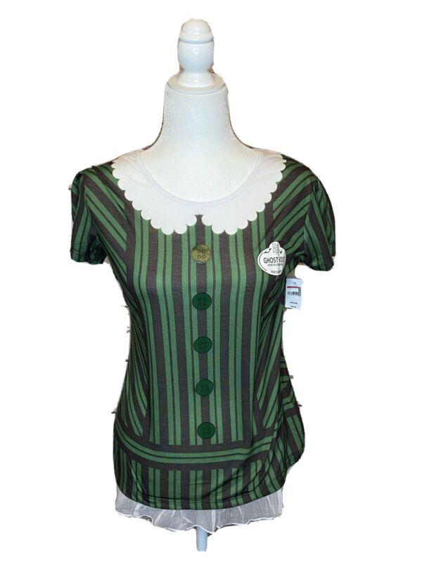 NEW Disney Parks Haunted Mansion GHOST HOST Women's Shirt Top Costume Medium Sm