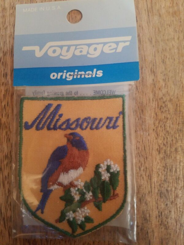 Vintage Embroidered Patch Badge Souvenir Travel State Sew On MISSOURI NOS New