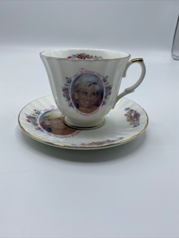 Princess Diana Tribute Cup And Saucer by Royal Victorian Bone China
