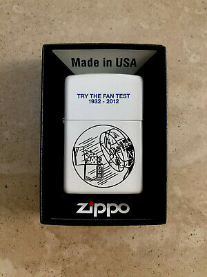 Genuine Zippo Lighter FAN TEST Design Limited Edition Exclusive Brand New UNUSED