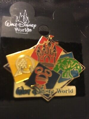Walt Disney World 4 Parks Exclusive Vintage Pin New On Card
