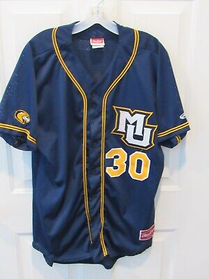174305865 Marquette Golden Eagles Baseball Jersey adult size large NCBA sewn Rawlings  # 30
