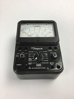 Simpson Motorola 260 Series 6p Analog Volt Ohm Meter