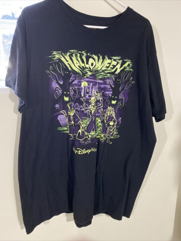 Disney Parks Men's Haunted Mansion Halloween Tee Shirt 2XL Pre-Owned