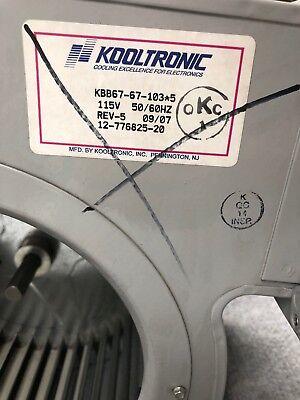 Kooltronic Kbb67-67-1035 Centrifugal Blower 115v 5060hz 12-776825-20 Rev 5 Mm