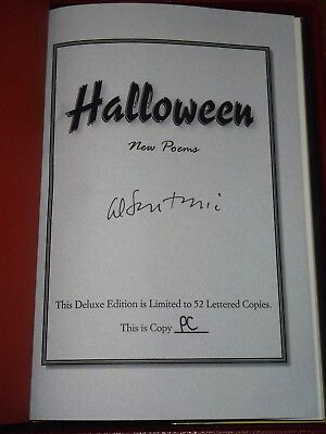 HALLOWEEN: NEW POEMS edited by Al Sarrantonio - LETTERED