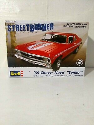 2009 Revell ''69 Chevy Nova Yenko Street Burner Model Kit 85-4237 For Parts