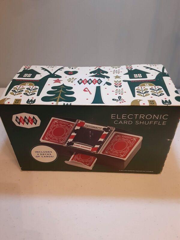Brand New Wemco Electronic Card Shuffler Includes 2 Decks Of Cards U
