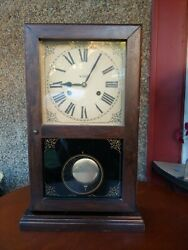 Vintage Verichron time and strike wind up mantel, shelf, wall clock.