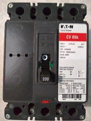 Eaton Circuit Breaker Cv3200x 200amps 240v 65ka 3pole New-open Box