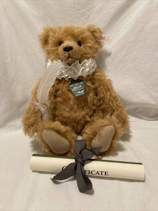 Steiff EAN 653186 Harrods Poet Bear Musical Teddy bear