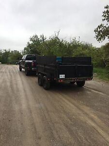 7 1/2 tone dump  trailer