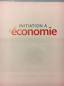 Manuel d'Initiation à l'économie