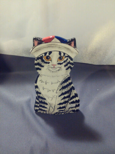 Cat vase collectible with Sailor Hat CATS BY NINA