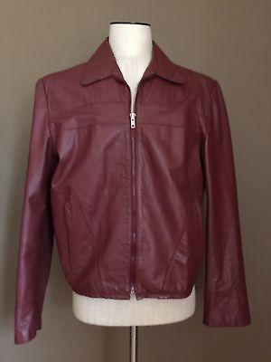 Vintage Montgomery Ward 100  Cowhide Genuine Leather Saddle Brown Mens Sz 42