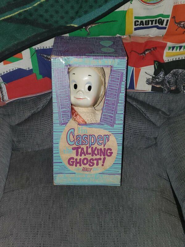 Vintage 1961 Casper the Talking Ghost w/Original Box WORKS GREAT