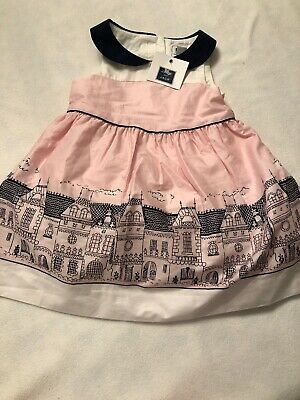 Party City Missouri (NWT Janie & Jack Girls 3-6 Mo Pink Parisian City Scene)