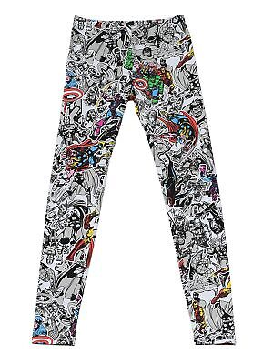 ero Leggings Stretch Spider-Man Thor Captain America (Marvel Leggings)