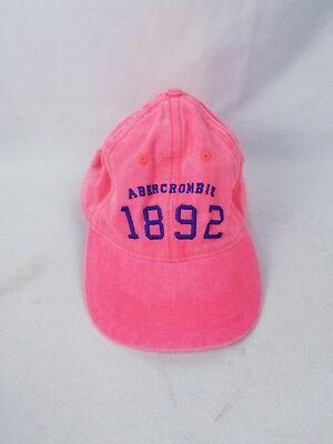 Vtg Abercrombie & Fitch Mens Hat Pink 90s Color Adjustable Cap 1892