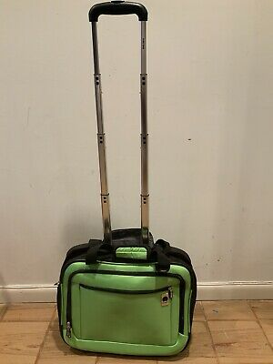 Delsey Briefcase - Delsey Luggage Rolling Mobile Office Travel  Briefcase ~ Lime Green ~ 17x13