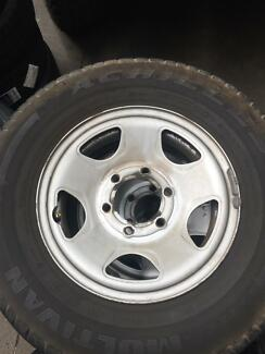 4x Holden rodeo wheels with tyres