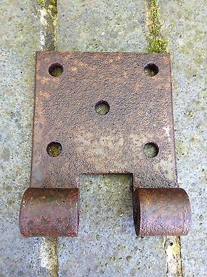 Antique Gate Bracket Hinge Old Wrought Iron Reclaimed Salvaged.