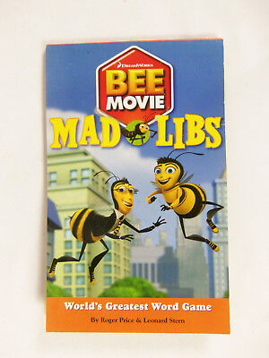 Bee Movie Mad Libs Word Game by Roger Price and Leonard Stern (2007, Paperback)