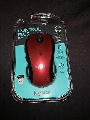 Logitech - M510 Wireless Laser Mouse - Red