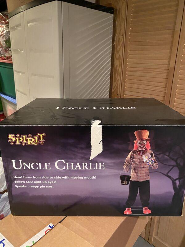 Spirit Halloween Uncle Charlie Animated Prop.