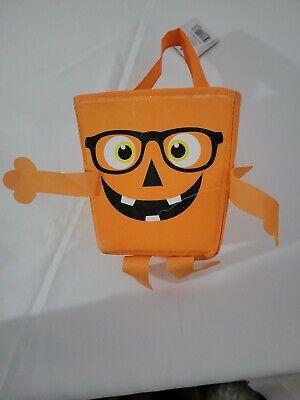 Halloween Portable Pumpkin Bucket Children Trick or Treat Pumpkin Candy Pail.
