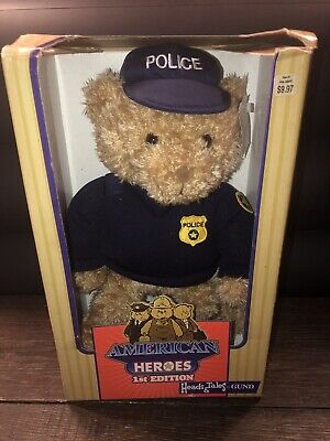 New NIB American Heroes First Edition Heads & Tales by GUND Police Teddy Bear