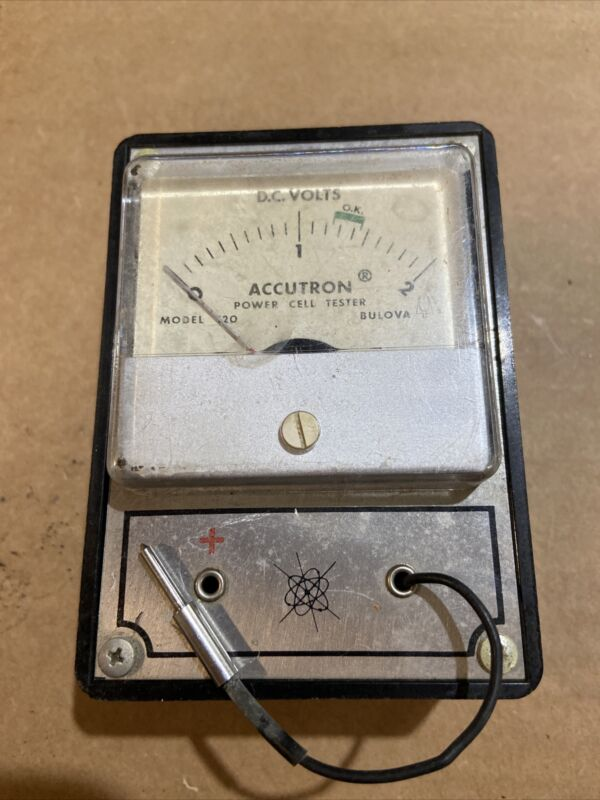Accutron Bulova Power Cell Tester Model 120 Power Cell Tester D.c. Volts Tested