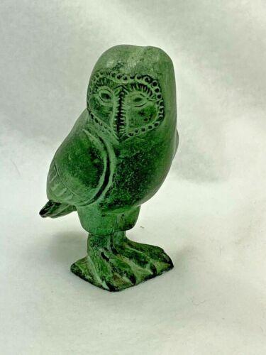 1988 Franklin Mint Treasury of Owls Cabinet Owl Figurine Egyptian Bronze Owl