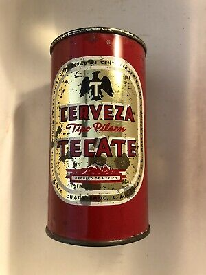 Tecate 35cl flat top beer can  Chauhtemoc Brewery MEXICO