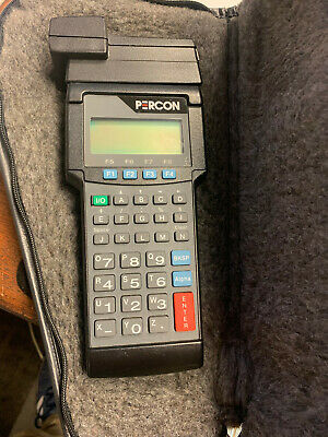 Percon Pt 2000 Handheld Barcode Scanner Model 42-000-00 With Case